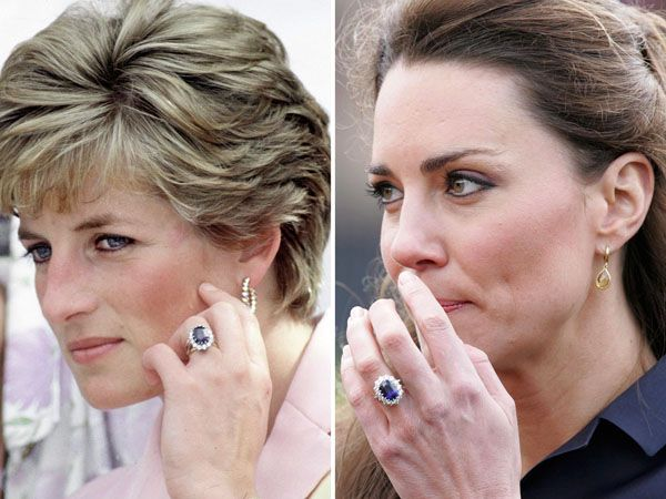 diana engagement ring is now kate engagement ring diana always present kate middleton ring pinterest solitaire diamond engagement rings and - Princess Diana Wedding Ring