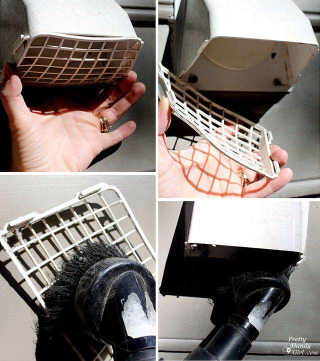 How to clean your dryer vent, which you should do every year to prevent fires!