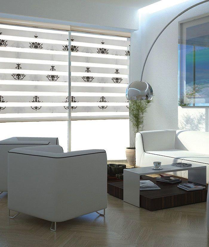 Рулонные жалюзи «Зебра» и жалюзи-плиссе «Дуэт» - красиво, удобно, функционально #window #interior #шторы #жалюзи #декорокна #рулонныежалюзи #рулонныешторы #зебра #деньночь #шторызебра