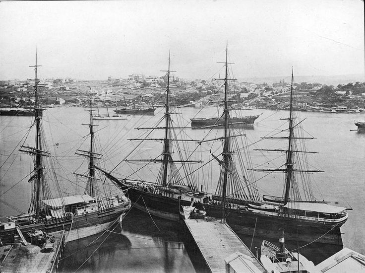 View of Johnston's Bay and Balmain from the CSR works, circa 1880s. History Sydney NSW