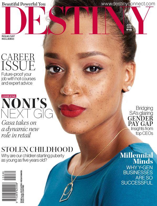 Noni Gasa, Destiny June 2015 Cover