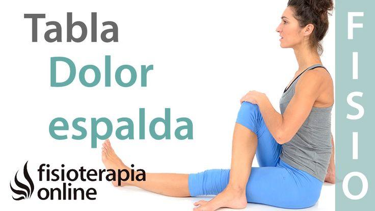 Tabla de espalda y rutina de ejercicios para una espalda sana