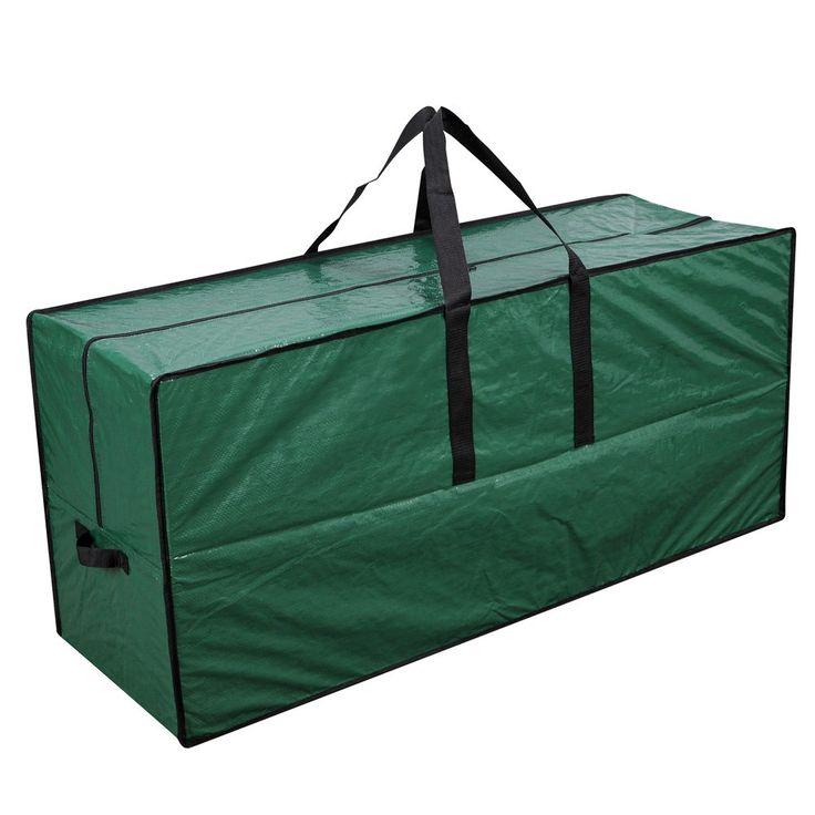 "Primode Artificial Xmas Tree Storage Bag with Handles   65"" x 15"" x 30"" Holiday Tree Storage Case   Protective Zippered Xmas Tree Bag (Green)"