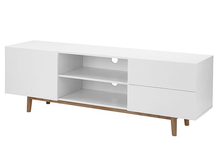 TV stolek s dvířky a zásuvkami Gabi, 160 cm - 1