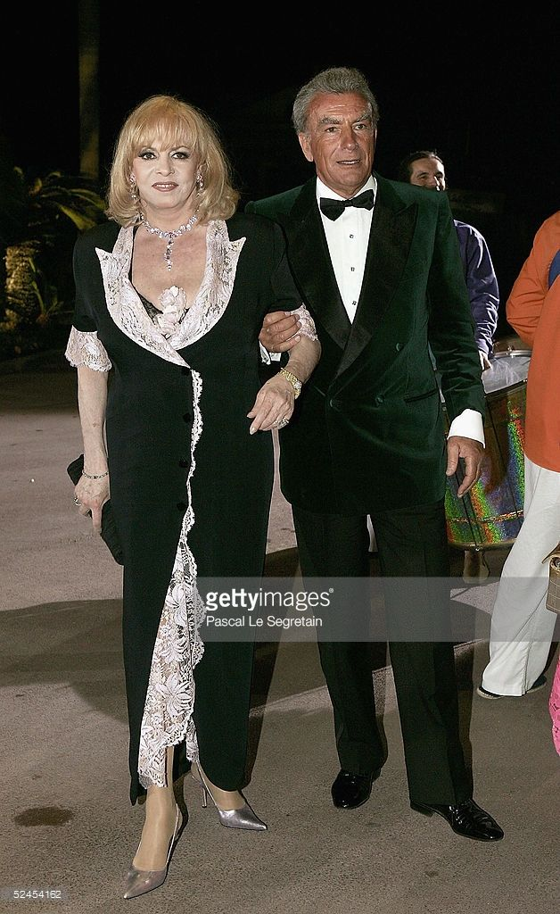 Michelle Mercier arrives at the Rose Ball 2005 at The Sporting Monte Carlo on March 19, 2005 in Monte Carlo, Monaco.