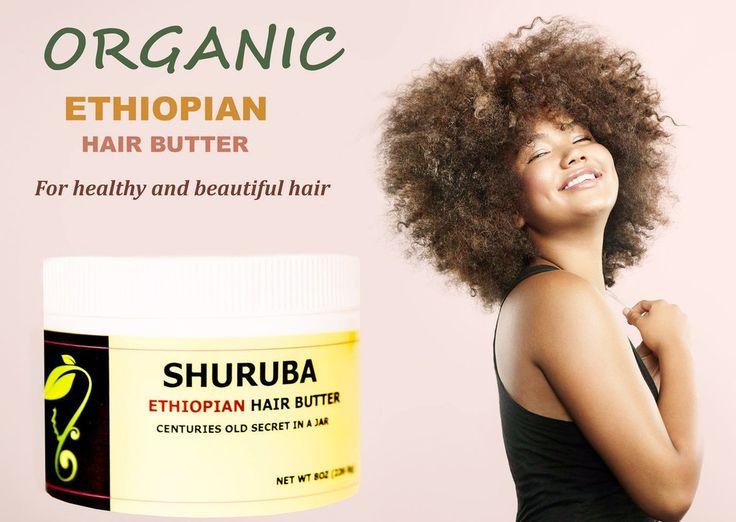 Natural Shuruba Ethiopian Hair Butter - curly, hydrating, detangling, preshampoo, treatment, east africa, shine, healthy, organic,