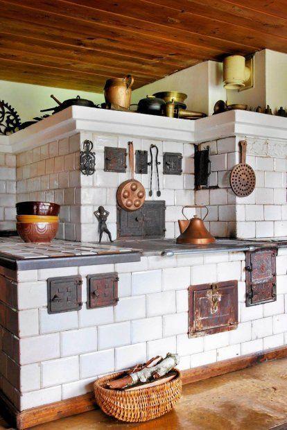 ♔ Cozy Kitchens stare kuchnie kafkowe