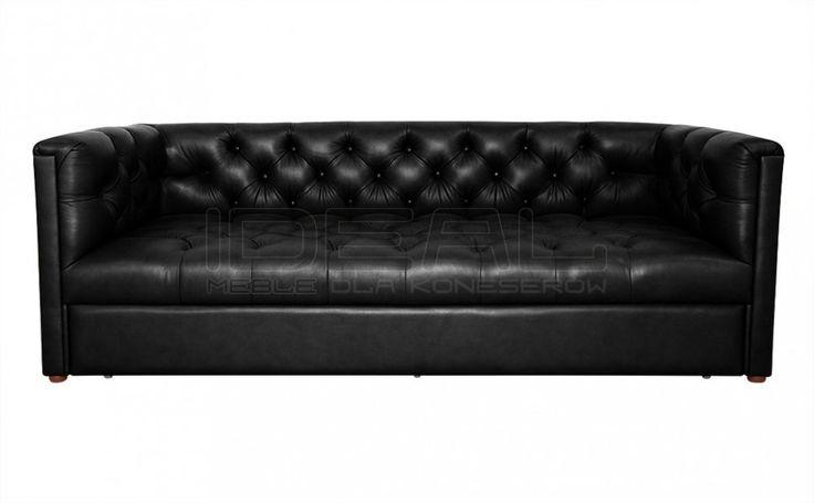Sofy Stylowe - Sofa Chesterfield London Z Pojemnikiem W Skórze - Ideal Meble