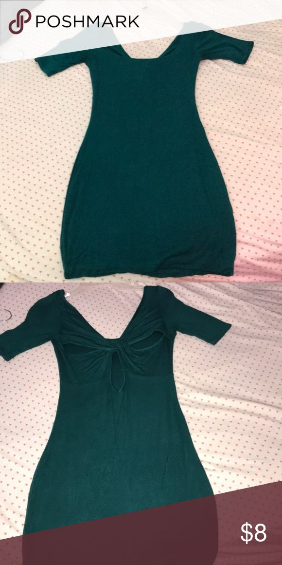 Green Mini Dress; Size XS Deep green mini dress. Runs a little small. XS. Dresses Mini