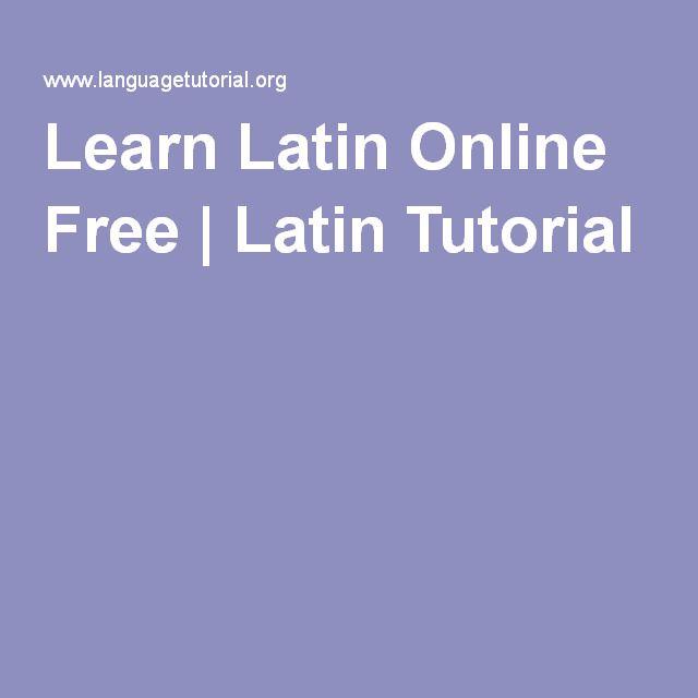 Learn Latin, Old English, Sanskrit, Classical Greek ...