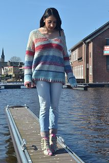 Dutch Port: crocheted version of Garnstudio knitted sweater 'No Worries'