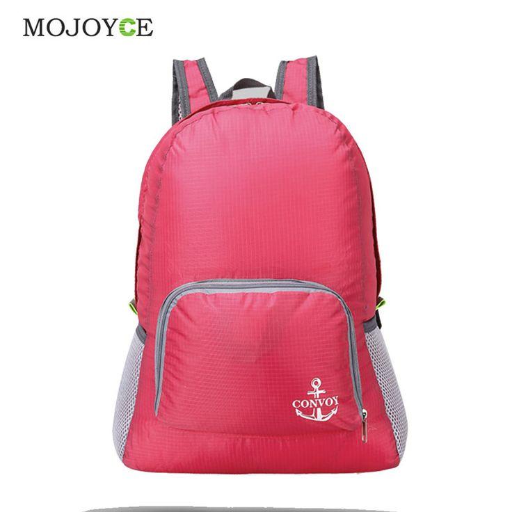 Mochila impermeable Plegable Bolsa Mochila de Color Caramelo Mochila Informal mochila de Viaje Capacidad Compuesto Bolsa Feminina