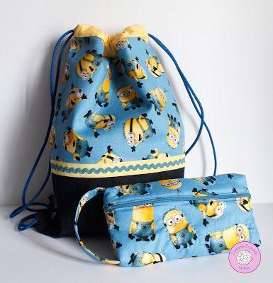 #regalos #infantil #mochila #estuche #niños #handmade #minions