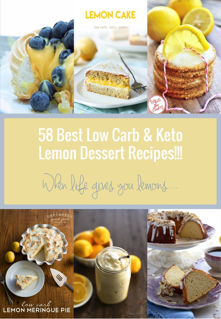 A collection of the best keto lemon dessert recipes
