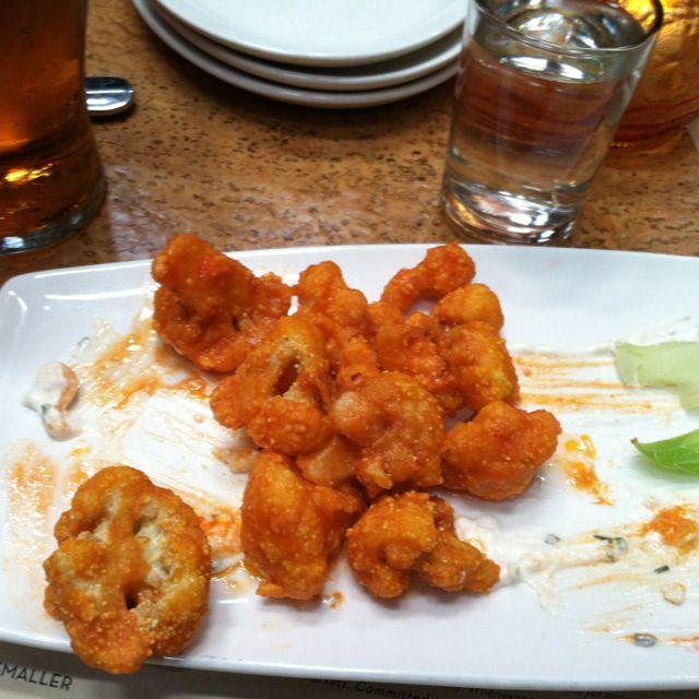 Buffalo cauliflower. No carbs all YUM.
