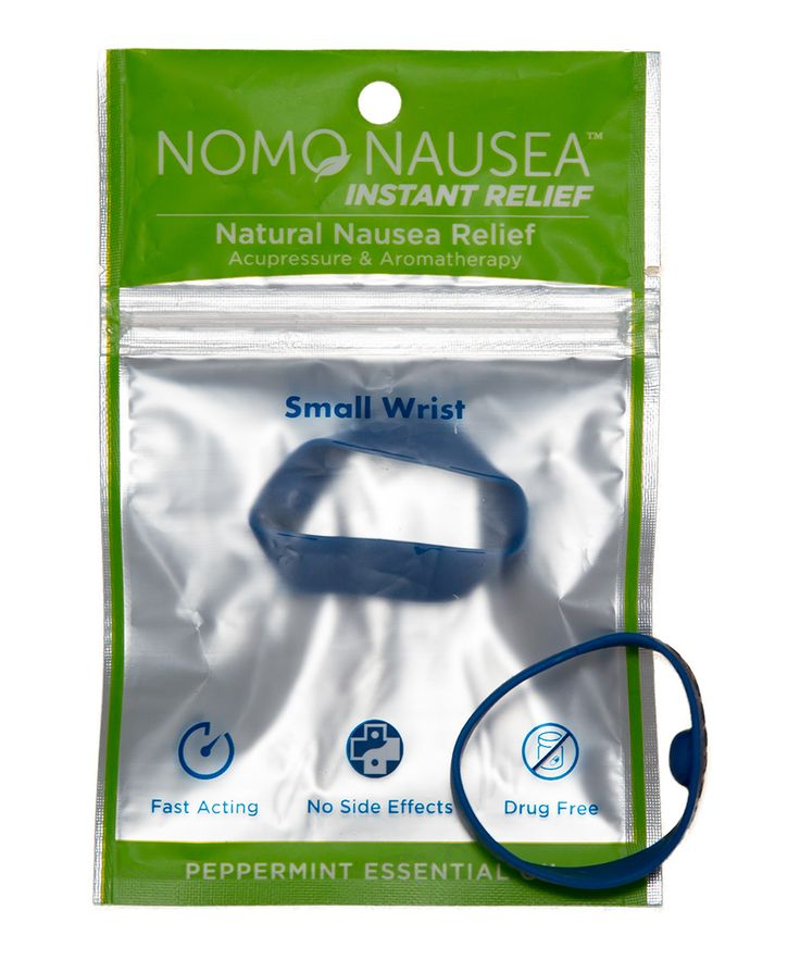 Small Blue Peppermint Anti-Nausea Band - Set of Two