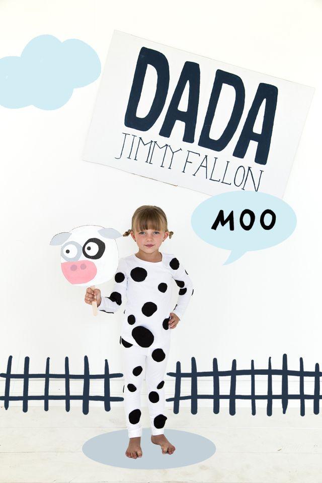 your babys first word will be dada parent and child costumes cow costumeschildren costumeshalloween - Baby Cow Costume Halloween