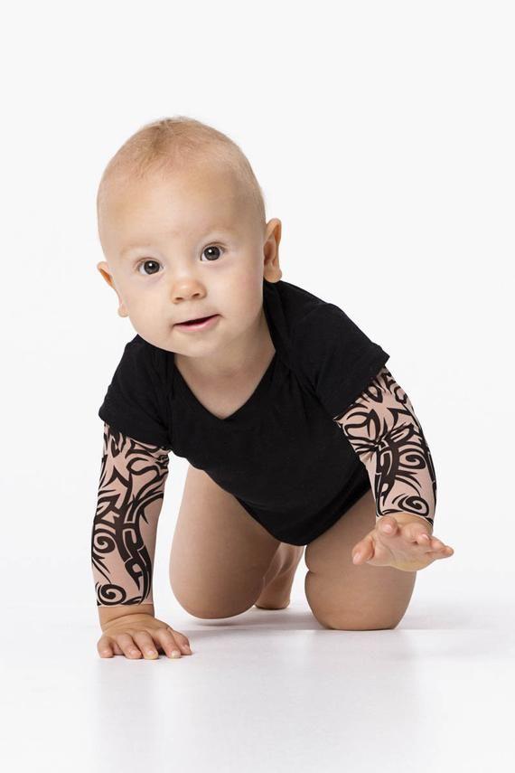 Tribal Child Tattoo Bodysuit, Toddler Tattoo Sleeve Bodysuit, Toddler Clothes, Children Halloween Bodysuit