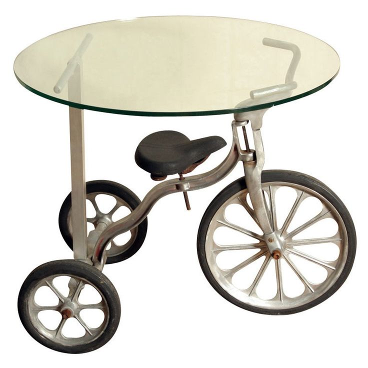 trike table - cool repurpose / upcycle idea