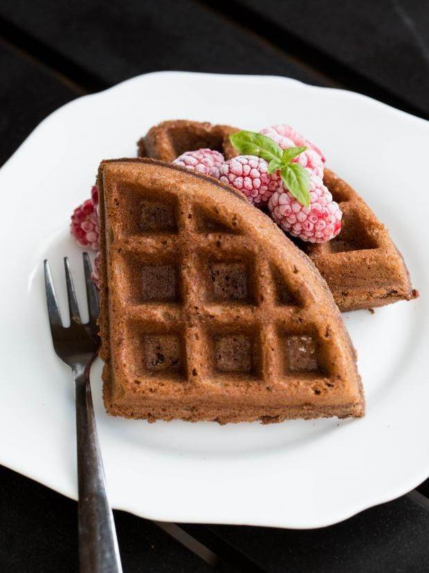 Chocolate Waffles Recipe-, brownies in a form of a waffle, for ...
