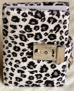 Personal Diary with Key | Teen Locking Diary ANIMAL PRINT Personal Journal, Lock and Key - BLACK ...