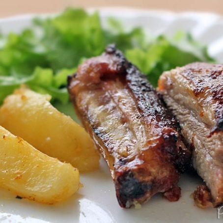Costelinhas de porco ao forno