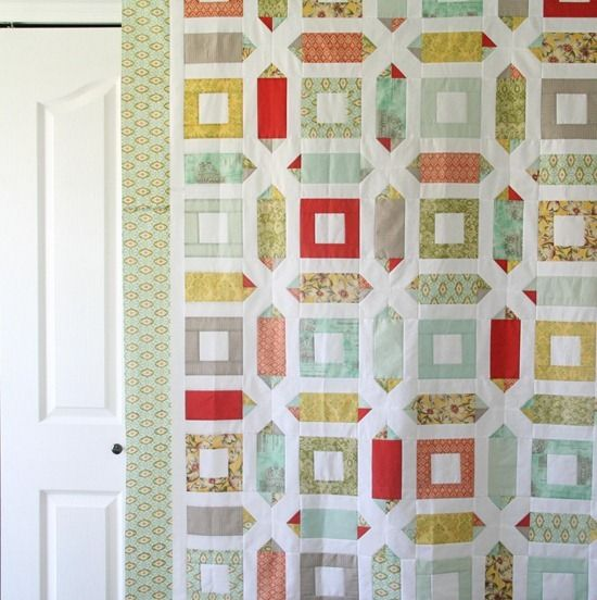 LOVE THIS!!! It's SO geometric, and I imagine it'll make a gorgeous man quilt!