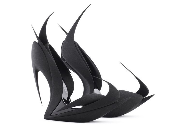 Zaha Hadid's 3D Printed Flame Heels Among 5 Designs to Re-Invent the Shoe - FLAMES / Zaha Hadid