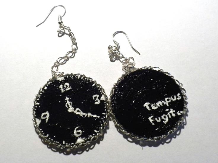 #painted #earrings  Black Rose's Handmade Things #handmade, #jewellery #unique #art