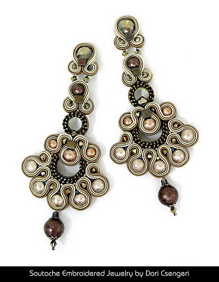 Soutache Embroidered Jewelry by Dori Csengeri - Audrey http://doricsengeri.com/