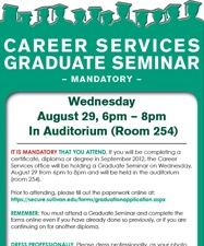 Sullivan University - Student Activities - Career Services Graduate Seminar | August 29th