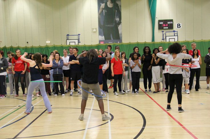 #NTUSR12 hula hooping in the sports hall!