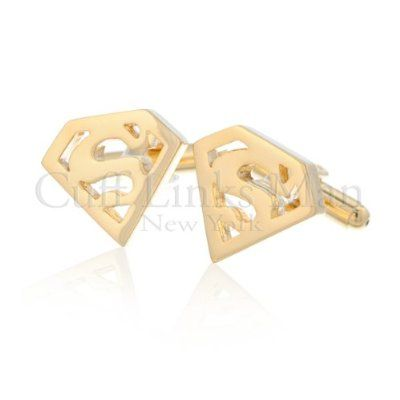 Superman Gold Cufflinks by Buy Cufflinks.com