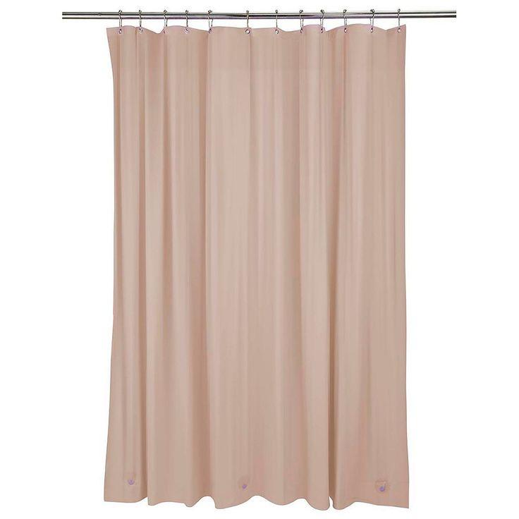 Bath Bliss Heavy Weight Mildew Resistant Shower Curtain Liner, Beig/Green (Beig/Khaki)