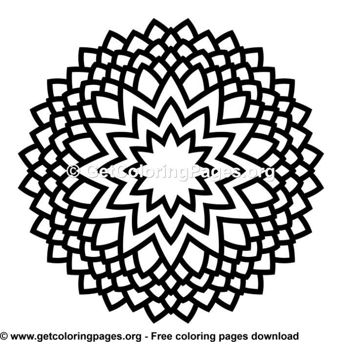 45 Simple Mandala Coloring Pages Simple Mandala Coloring Pages