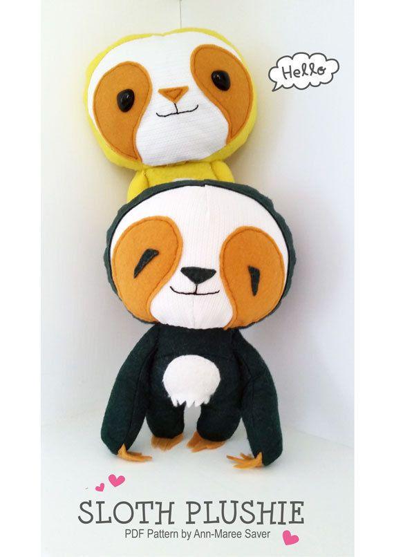 193 besten Stuffed Animals DIY-Sloths Bilder auf Pinterest ...