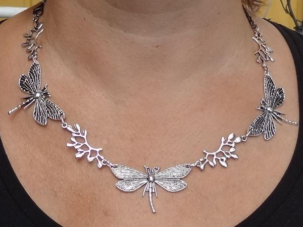 Dragonfly necklace Sudenkorento korulinkki (1kpl) - Helmien talo