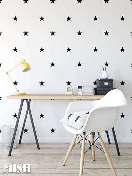 Wall Decal Stars Color black, Wall Stickers, Star Wall Stickers, Nursery Wall Decal, Home Decor, Kids Room by MISHdecor on Etsy