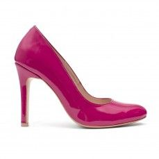 BELLA fuxia patent leather pumps