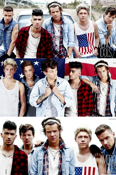 two things i love in life- one direction and america #meow