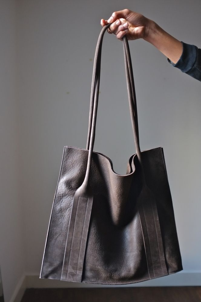 Beautiful leather tote bag by Flanel #leatherbag #leatherhandbag #leathershopper