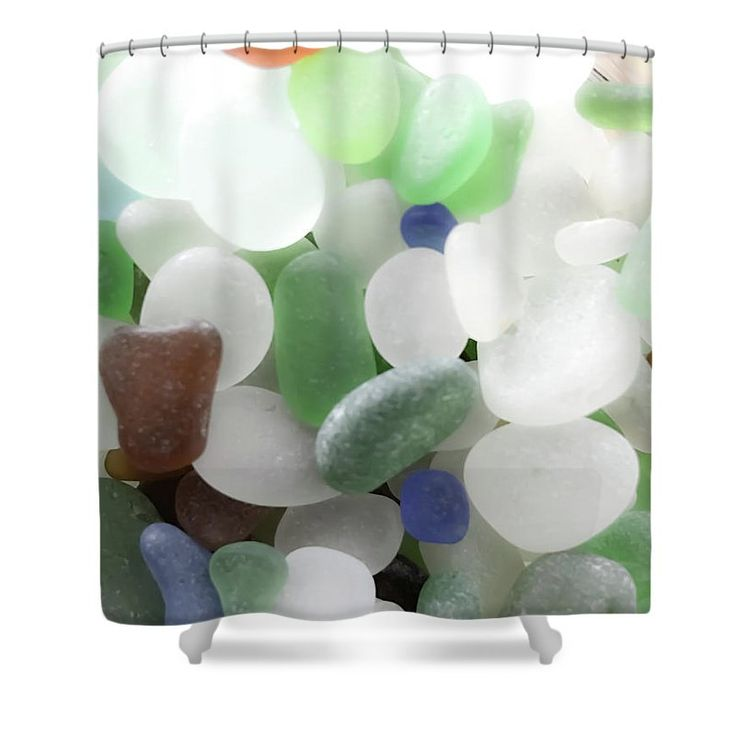 Coastal shower curtains kensie shower curtain winsome for Sea glass bathroom ideas