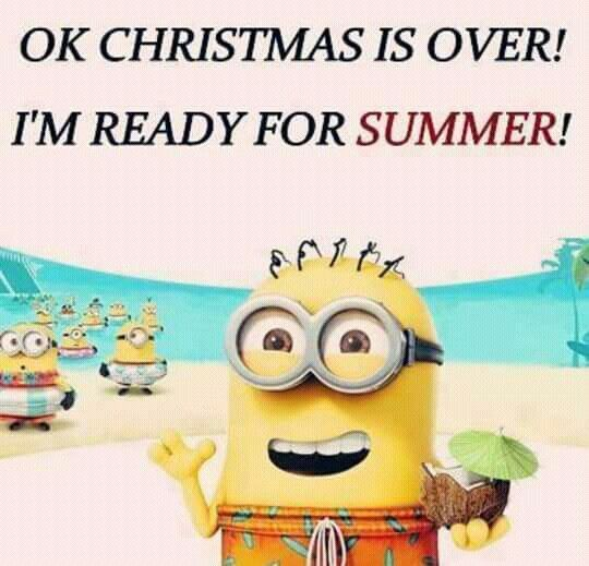 OK.  Christmas is over?  I'm ready for summer! - minion