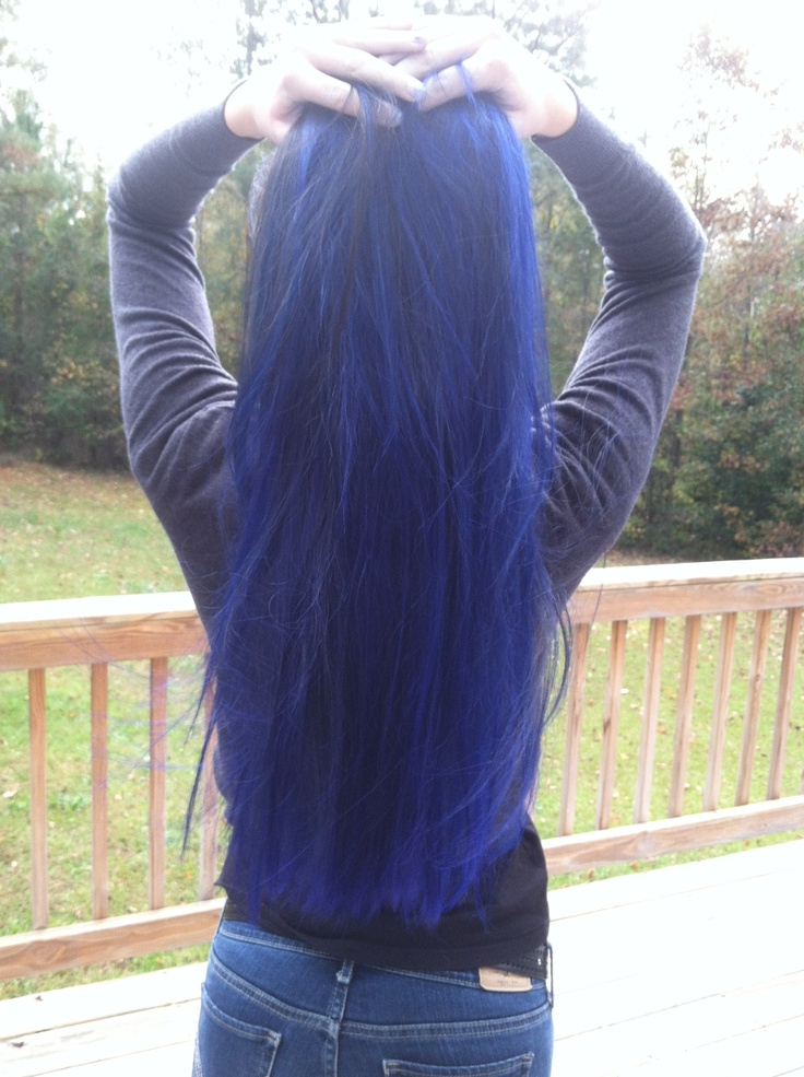 my long blue hair, yay for unnatural hair colors