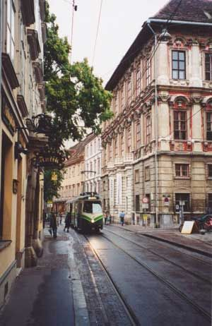 Graz, AUSTRIA, main shopping strip