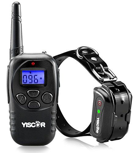 YISCOR Dog Training Collar, Shock/Vibration/Beep Remote 330Yrds Waterproof All Size Dogs (10-100 Pounds) Electric Bark Collar Anti Barking Collar for Dogs