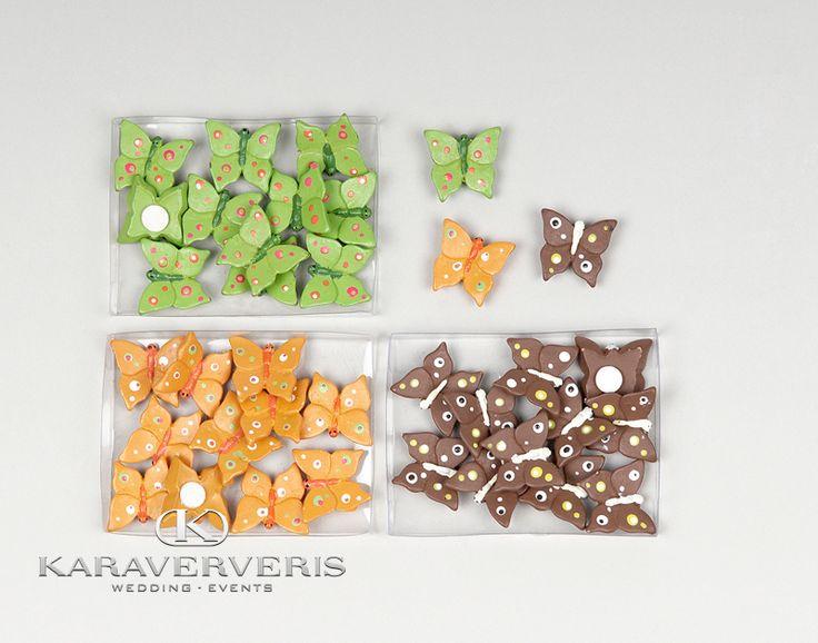 Αυτοκόλλητο πεταλούδες σετ 12 τεμαχίων σε τρία χρώματα