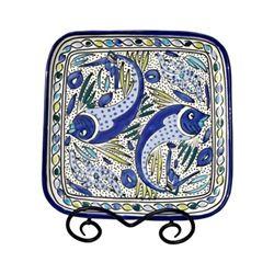 """Aqua Balik 11-1/2"""" Square Platter"""