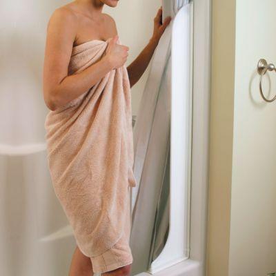 Tall Shower Curtain Splash Guard