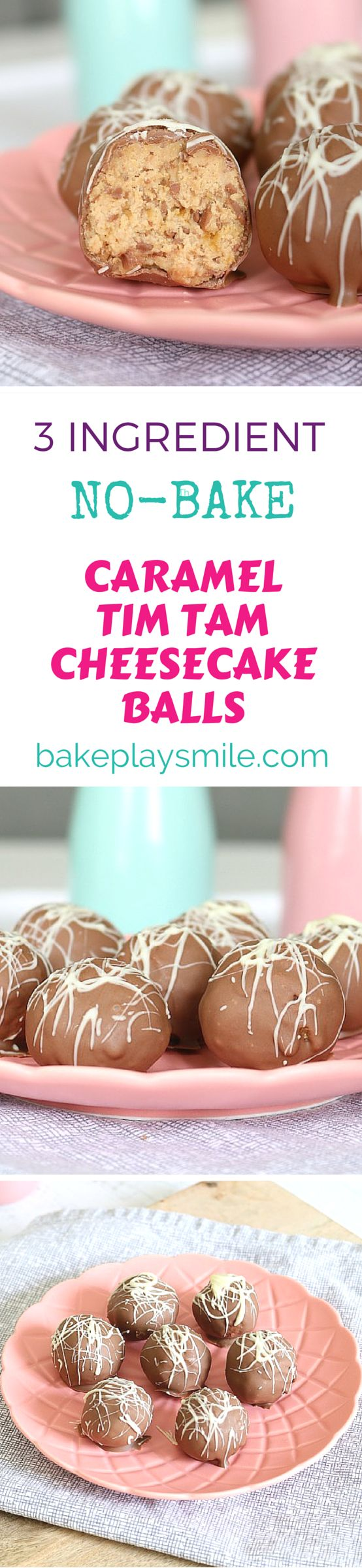 You can't get a better treat than this!!! These Caramel Tim Tam Cheesecake Balls are completely no-bake, take only 5 minutes to make and you only need 3 ingredients! So simple!!! #cheesecake #balls #truffles #chocolate #caramel #timtams #recipe #thermomix #conventional